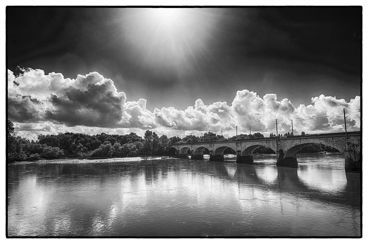 Pont de chemin de fer sur la Loire