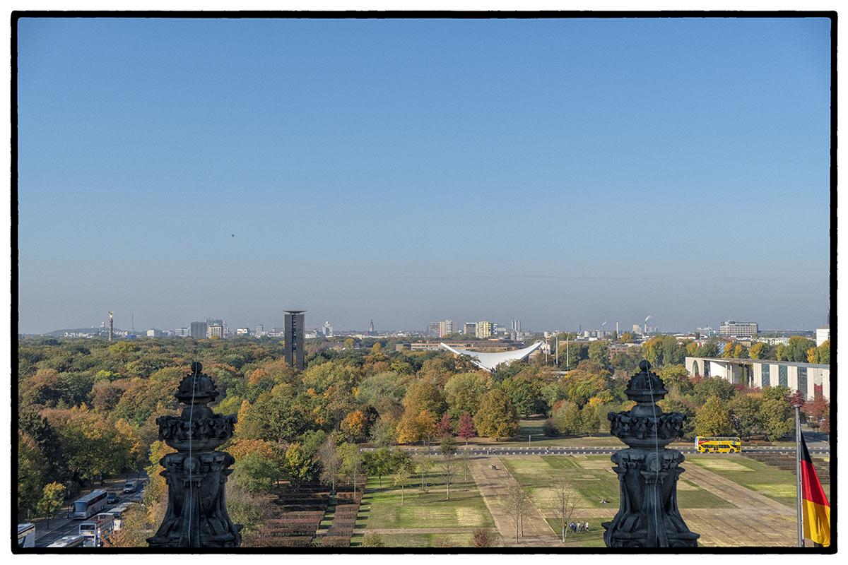 Vue de Berlin au niveau de la coupole