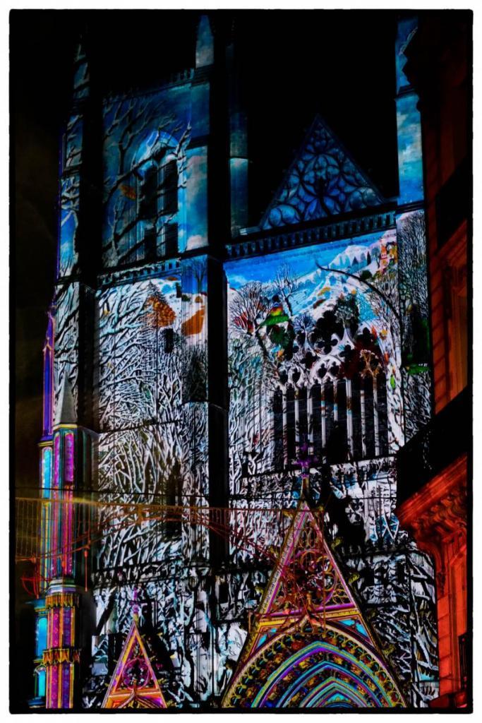 Spectacle projeté sur la cathédrale de Nantes